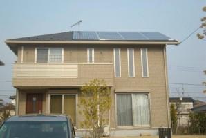 茨城県 石岡市 K様 三菱太陽光発電システム施工事例